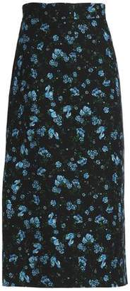 Emilia Wickstead Floral-Print Wool-Blend Midi Skirt