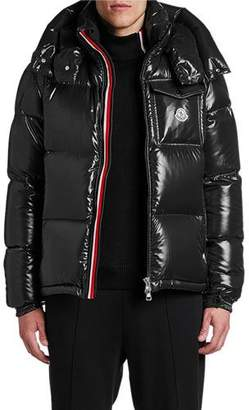 Moncler Men's Montebeliard Double-Zip Hooded Puffer Parka Coat