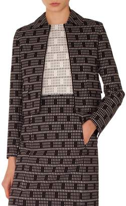 Akris Punto Lace Jacquard Zip Jacket