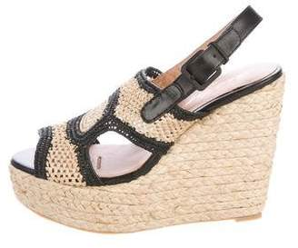 Robert Clergerie Drastic Raffia Sandals w/ Tags