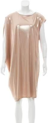 Halston Drapes Asymmetrical Dress w/ Tags
