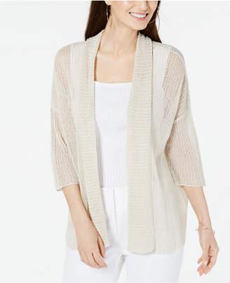 Alfani Open-Stitch Kimono Cardigan