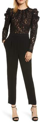MICHAEL Michael Kors Black Lace Jumpsuit