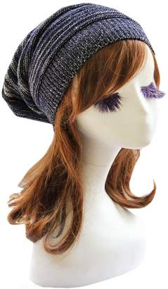 Telamee Women Purple Winter Beanie Cabled Knit Hat Crochet Warm Cap for Girls