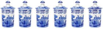 Spode Blue Italian Spice Jars - Set of 6