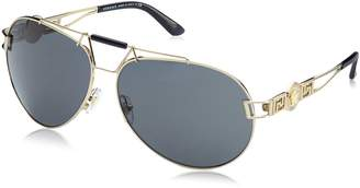 Versace Signature Icon Aviator Sunglasses in Pale Gold VE2160 125287