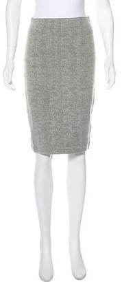 Robert Rodriguez Wool-Blend Knee-Length Skirt