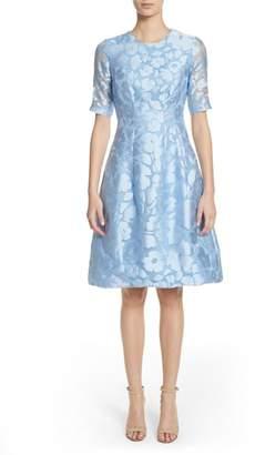 Lela Rose Holly Flower Print Dress
