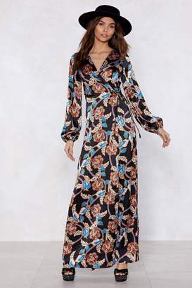 Nasty Gal Let's Wrap This Up Floral Dress