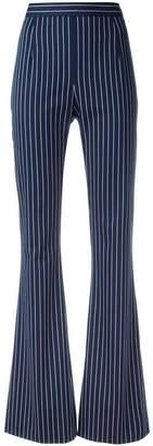 Pierre Balmain striped high-waisted trousers