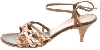 Casadei Leather Ankle Strap Sandals $75 thestylecure.com