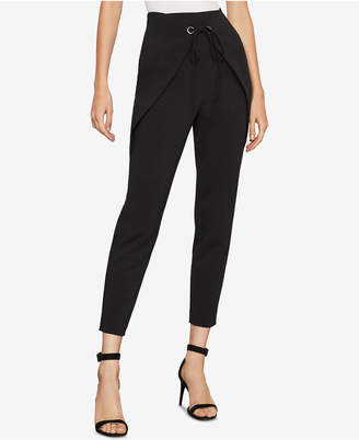 BCBGMAXAZRIA Wrap-Front Tapered Pants