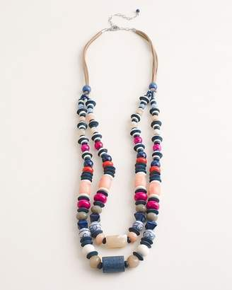 Chico's Chicos Beaded Multi-Colored Double-Strand Necklace