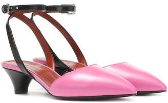 Marni Leather kitten heel pumps