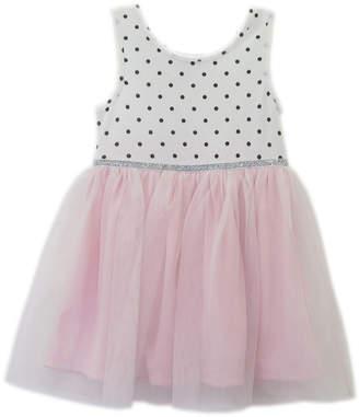 LILT Lilt Sleeveless Polka Dot A-Line Dress - Baby Girls