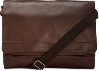Kenneth Cole Reaction Men's Slim Faux-Leather Messenger Bag