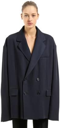 Maison Margiela Oversized Cotton Blend Twill Blazer