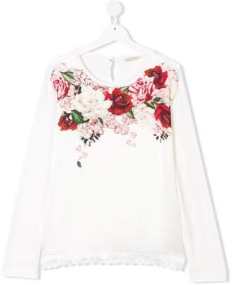 MonnaLisa floral print blouse