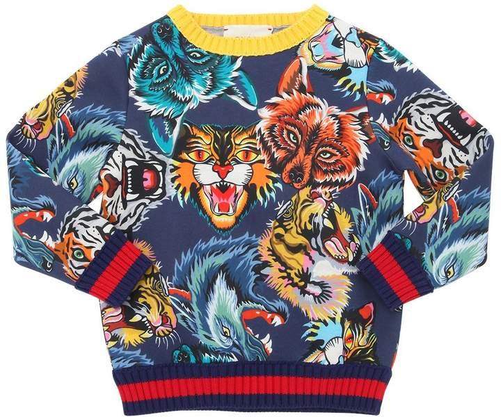 Animals Double Cotton Jersey Sweatshirt