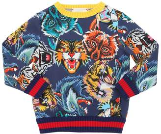 Gucci Animals Double Cotton Jersey Sweatshirt