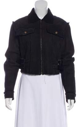 Christian Dior Cropped Shearling Jacket Black Cropped Shearling Jacket