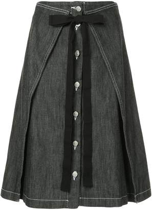 MM6 MAISON MARGIELA bow tie denim skirt