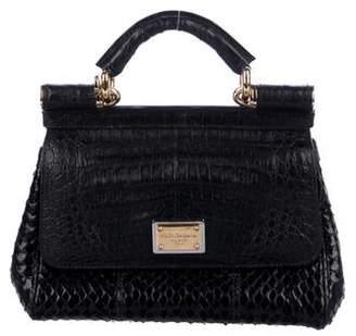 363a8ea35c8a Dolce   Gabbana Crocodile   Snakeskin Mini Miss Sicily Bag