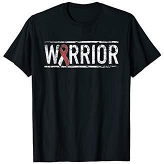 Mens Head and Neck Cancer Warrior Shirt - Awareness Ribbon
