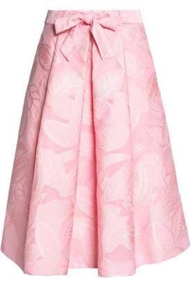 Moschino Bow-Detailed Pleated Jacquard Skirt