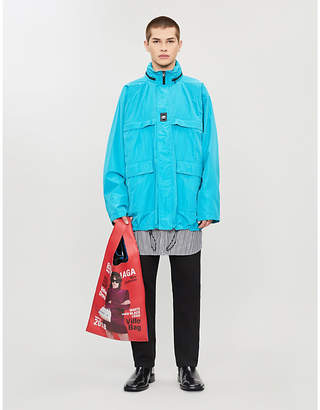 Balenciaga Logo-print shell hooded jacket