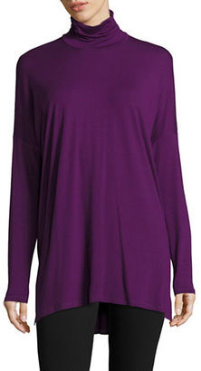Eileen Fisher Long Sleeve Turtleneck Top $168 thestylecure.com