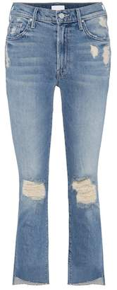Mother The Insider Crop Fray distressed jeans