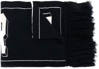 Moncler logo intarsia scarf