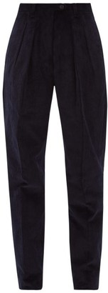 Giuliva Heritage Collection The Husband Cotton Corduroy Trousers - Womens - Navy