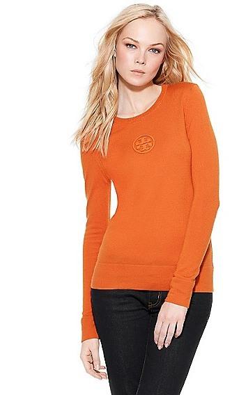 Tory Burch Logo Crewneck Sweater