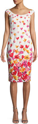 Maggy London Watercolor Floral Sheath Dress