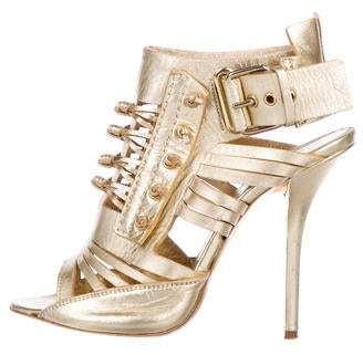 Givenchy Metallic Cage Sandals