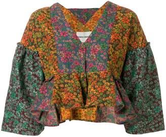 Henrik Vibskov floral patch work blouse