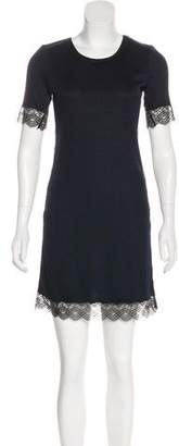 3.1 Phillip Lim Rib Knit Lace-Trimmed Dress