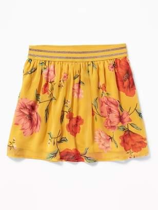 Old Navy Printed Chiffon Skirt for Girls