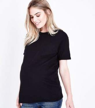 New Look Maternity Black Organic Cotton Short Sleeve T-Shirt