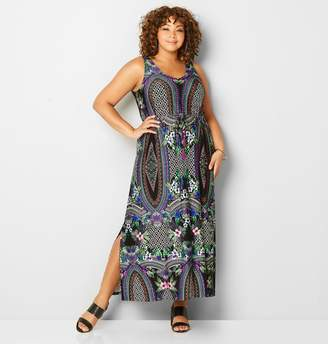 Avenue Tropical Geo Maxi Dress