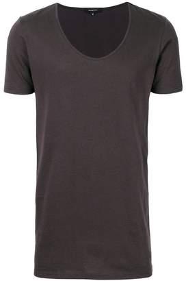 Unconditional deep U-neck T-shirt