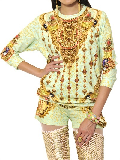 Manish Arora Printed Cotton Fleece Sweatshirt