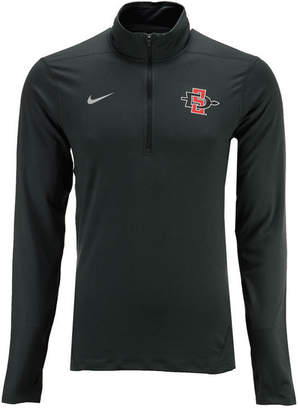 Nike Men's San Diego State Aztecs Heather Dri-fit Element Quarter-Zip Pullover