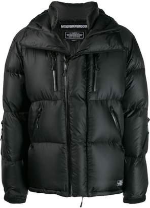 Neighborhood hooded padded jacket