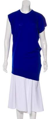 Alexander Wang Wool Asymmetrical Tunic Blue Wool Asymmetrical Tunic