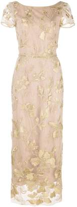 Marchesa floral embroidered evening dress