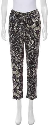 Haute Hippie Mid-Rise Animal Print Pants