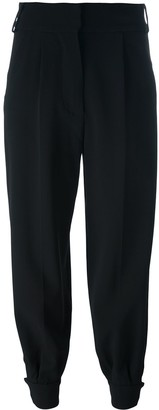 Marni tapered ankle cuff trousers